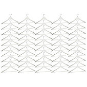 Harbour Housewares Pack of 50 White Wooden Clothes / Coat Hangers