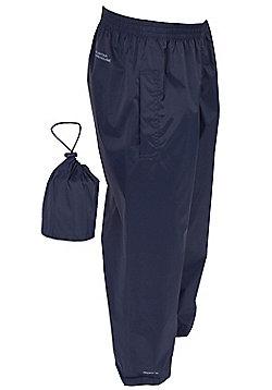 Boys Girls Pakka Walking Hiking Motorbike Over Waterproof Trousers Overtrousers - Blue