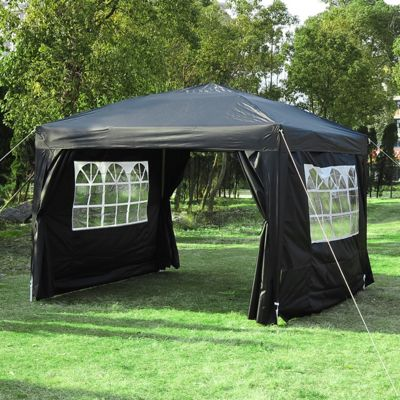 Outsunny 3m x 4.5m Pop Up Gazebo (Black)