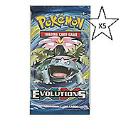 Pokemon Trading Card Game - Evolutions - 5 Packs Supplied