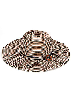Ladies Striped Sun Hat with Band