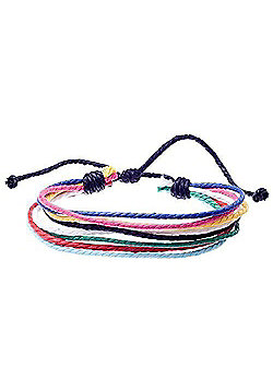 Urban Male Oreti Multi Coloured Beach Men's Bracelet With Multi Coloured Finish