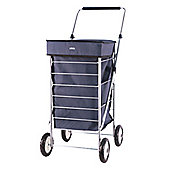 Sabichi 4 Wheel 60L Shopping Trolley, Bernie Blue