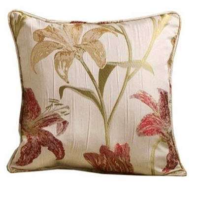 Homescapes Cream Cushion Cover Floral Tapestry Design 43 x 43 cm