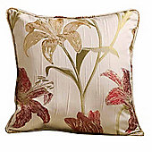 Homescapes Cream Filled Cushion Floral Tapestry Design 43 x 43 cm