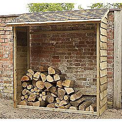 Forest Garden Wall Log Store