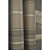 Catherine Lansfield Brushed Heritage Check Curtains 66x72 Inches (167x183) Grey