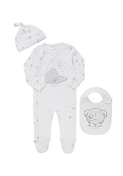 Me To You Tiny Tatty Teddy All In One, Hat and Bib Set - White