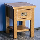 Surrey Oak Lamp Table - Rustic Oak