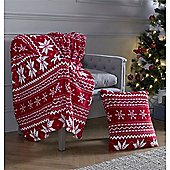 Festive Home Snowflakes Christmas Cushion Cover - 18x18 Inches (46x46cm)
