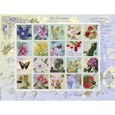 Nostalgic Stamps - 1000pc Puzzle