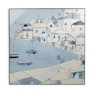 Harbour Side Lacquer Box Print 80cm x 80cm
