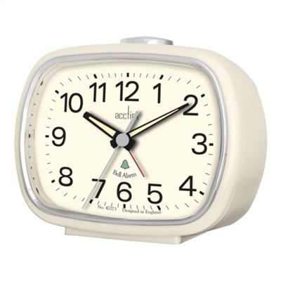 Acctim 15342 Talos Jumbo LED Alarm Clock with with USB Smart Connector - Silver