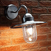 Auraglow Vintage Outdoor Wall Lantern Traditional Nautical Garden Light - Warm White LED Light Bulb Included - Stainless Steel