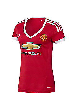 Manchester United FC Ladies Adidas Home Shirt - Red