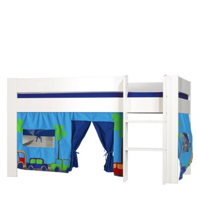 Kids World Midsleeper with Blue Patterned Tent