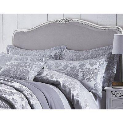 Catherine Lansfield Damask Jacquard Silver Pillowshams