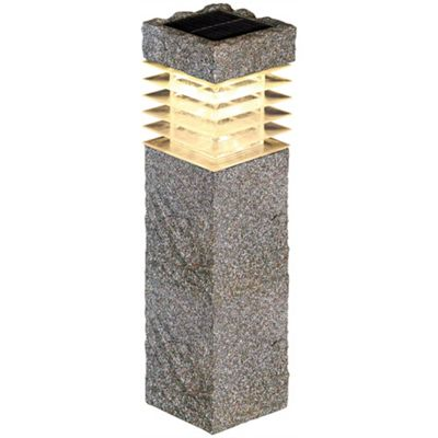Luxform Tivoli Solar Post Light - Gravel