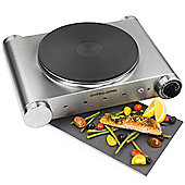Andrew James Stainless Steel Single Hob in Silver