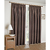 Enhanced Living Apollo Lined Pencil Pleat Curtains - Brown