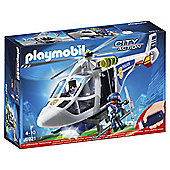 PLAYMOBIL POLICE HELICOPTER WITH LED SEA