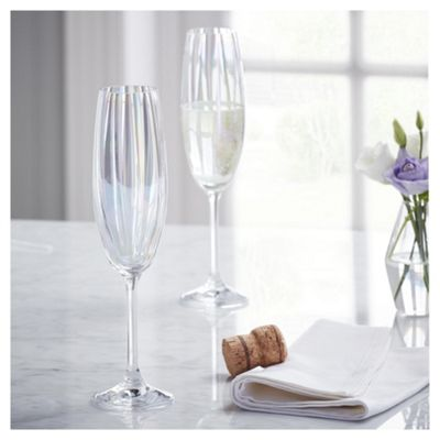 Fox & Ivy Jardin Pack of 4 Champagne Flutes