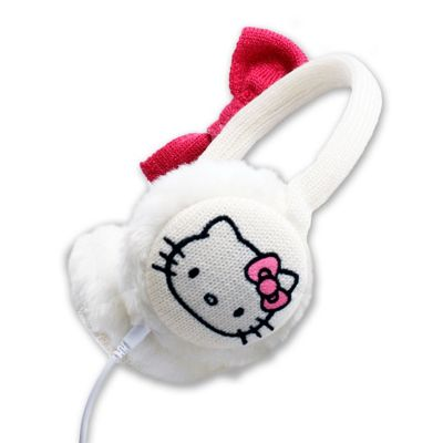 Hello Kitty Earmuffs White