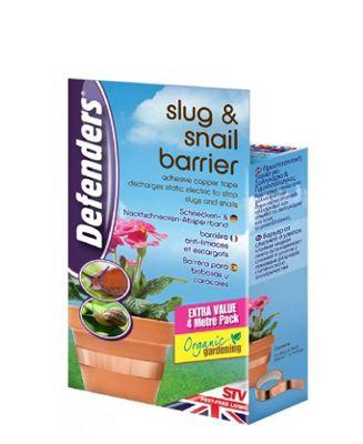 Defenders 4 Meter Slug and Snail Copper Self Adhesive Poisen Free Barrier Tape
