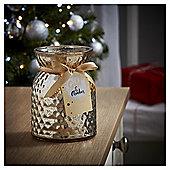 Tesco Christmas Golden Amber Metallic Filled candle