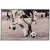 Football Match Rug in Monochrome - 100 x 160 cm