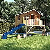 6x7 BillyOh Lollipop Max Tower Children Wooden Playhouse with Premium Blue Slide