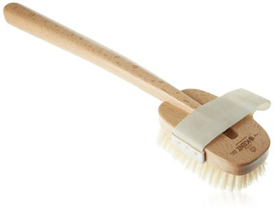 Kent Bath Brush with Pure White Bristle and Detachable Head - FD3