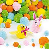 Pastel Pom Poms Craft Value Pack (Pack of 200)