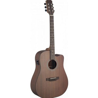 Stagg Solid Top Cutaway Elec Acoustic Dreadnought