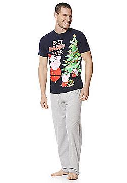 Peppa Pig Daddy Pig Pyjamas - Navy & Grey