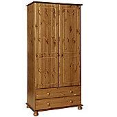 Copenhagen 2 Door 2 Drawer Wardrobe Pine
