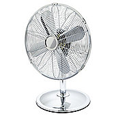 TESCO DF1217CH Chrome Desk Fan