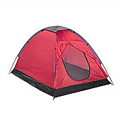 North Gear Camping Scott Waterproof 2 Man Dome Tent Red