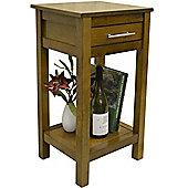 Regia - Solid Wood Storage Telephone / End Table - Walnut