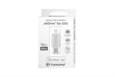 Transcend JetFlash JetDrive Go 300 32GB USB 3.0 (3.1 Gen 1) Type-A Silver