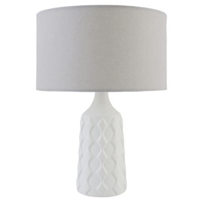 Tesco Ceramic Geo Table Lamp Ivory. Table Lamps   Modern Lighting   Tesco direct   Tesco