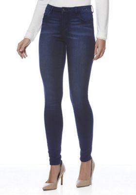 JDY Distressed Stretch Skinny Jeans S (06-08) 30 Leg Dark wash