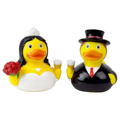 Lilalu Bride and Groom Wedding Rubber Duck Bathtime Toys
