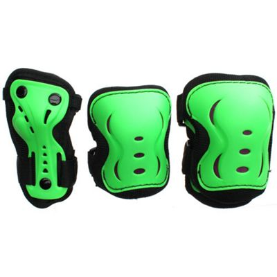 SFR Essentials Triple Pad Set - Green / Black / Red - Large (age 9-12)