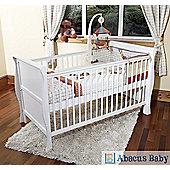 Scarlett Sleigh Cot Bed/Toddler Bed & Deluxe Pocket Sprung Mattress - White