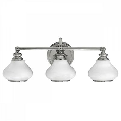 Polished Chrome 3lt Bathroom Wall Light - 3 x 3.5W LED G9
