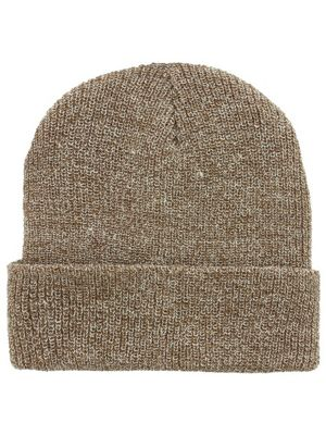 Heather Oatmeal Heritage Brown Beanie