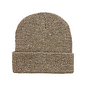 Heather Oatmeal Heritage Brown Beanie - Brown