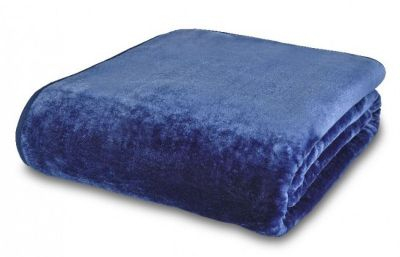 Mink Faux Fur Throw, 150x200cm, Navy