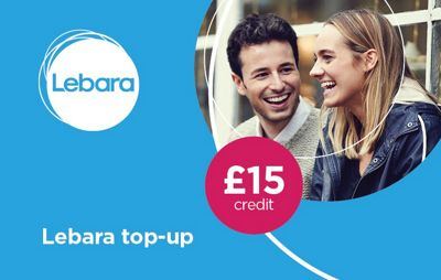 Lebara £15 mobile Top Up